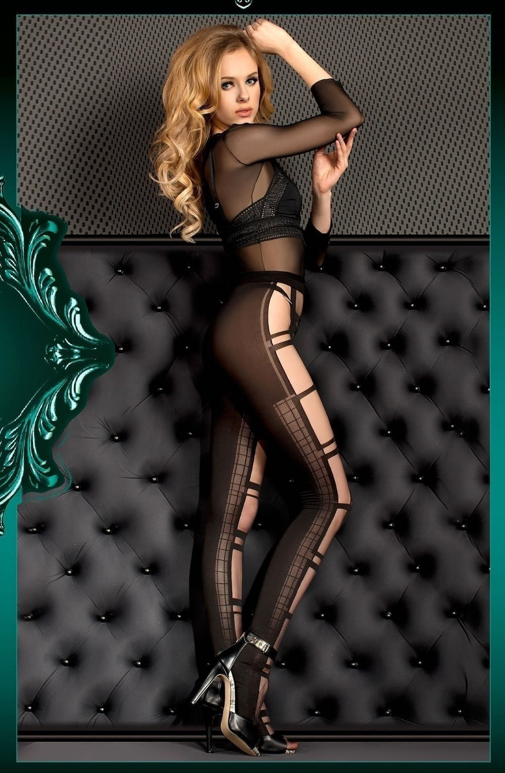 Ballerina Tights 396 (Black) - Tights - Ballerina - Charm and Lace Boutique