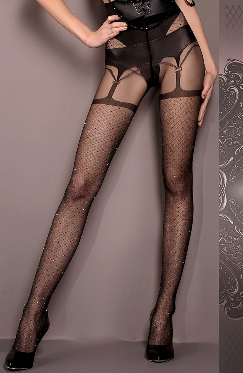 Ballerina Tights 411 (Black) - Tights - Ballerina - Charm and Lace Boutique