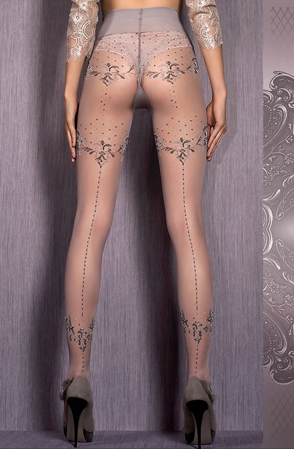 Ballerina Tights 413 (Grey) - Tights - Ballerina - Charm and Lace Boutique