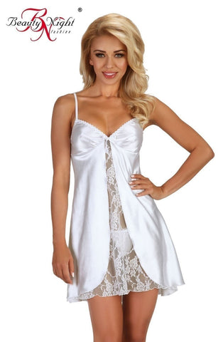 Beauty Night Alexandra Chemise (White) - Chemises - Beauty Night - Charm and Lace Boutique