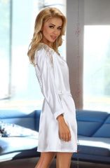 Beauty Night Alexandra Dressing Gown (White) - Dressing Gowns - Beauty Night - Charm and Lace Boutique