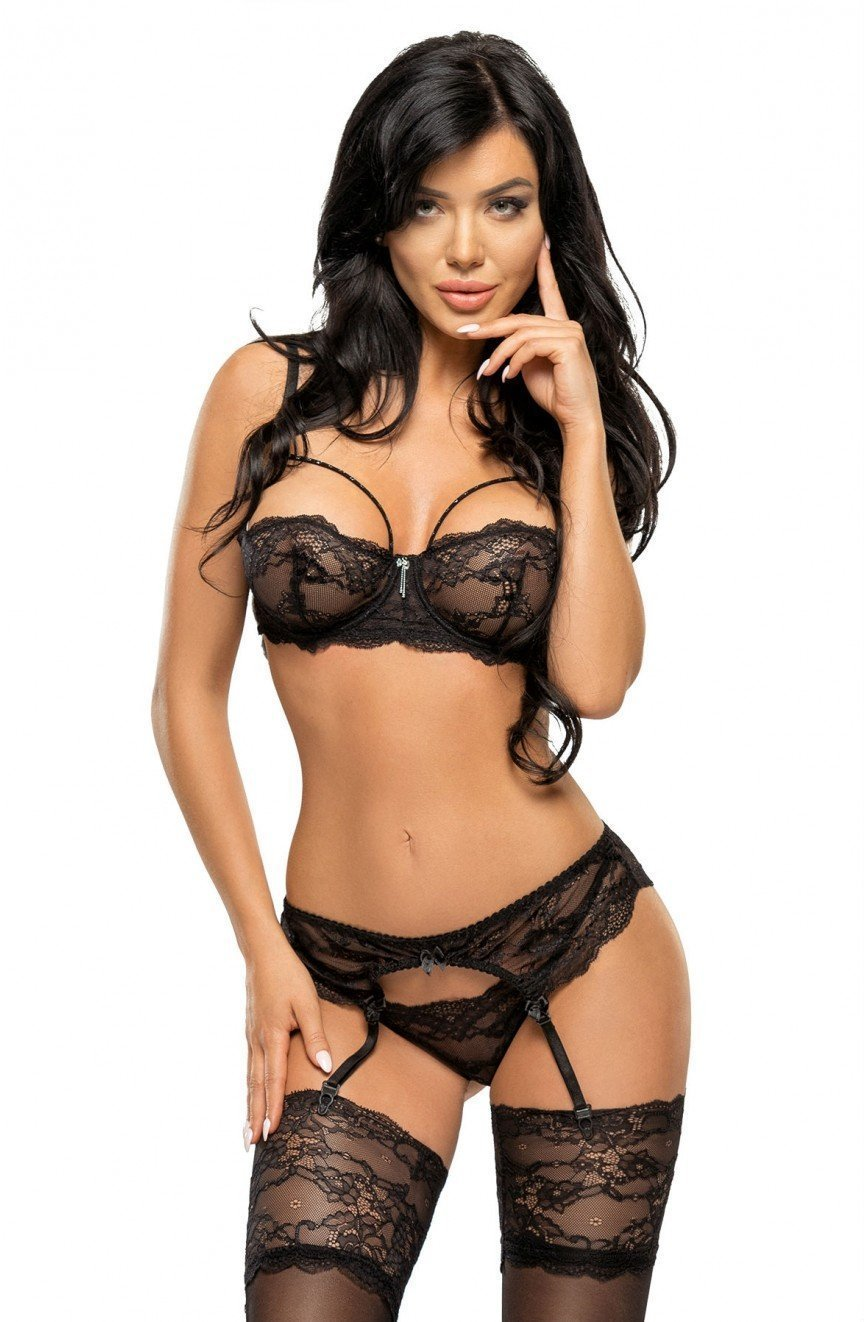 Beauty Night Belinda Set (Black) - Lingerie Sets - Beauty Night - Charm and Lace Boutique