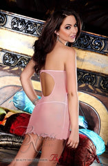 Beauty Night Bella Chemise Set (Pink) - Chemises - Beauty Night - Charm and Lace Boutique