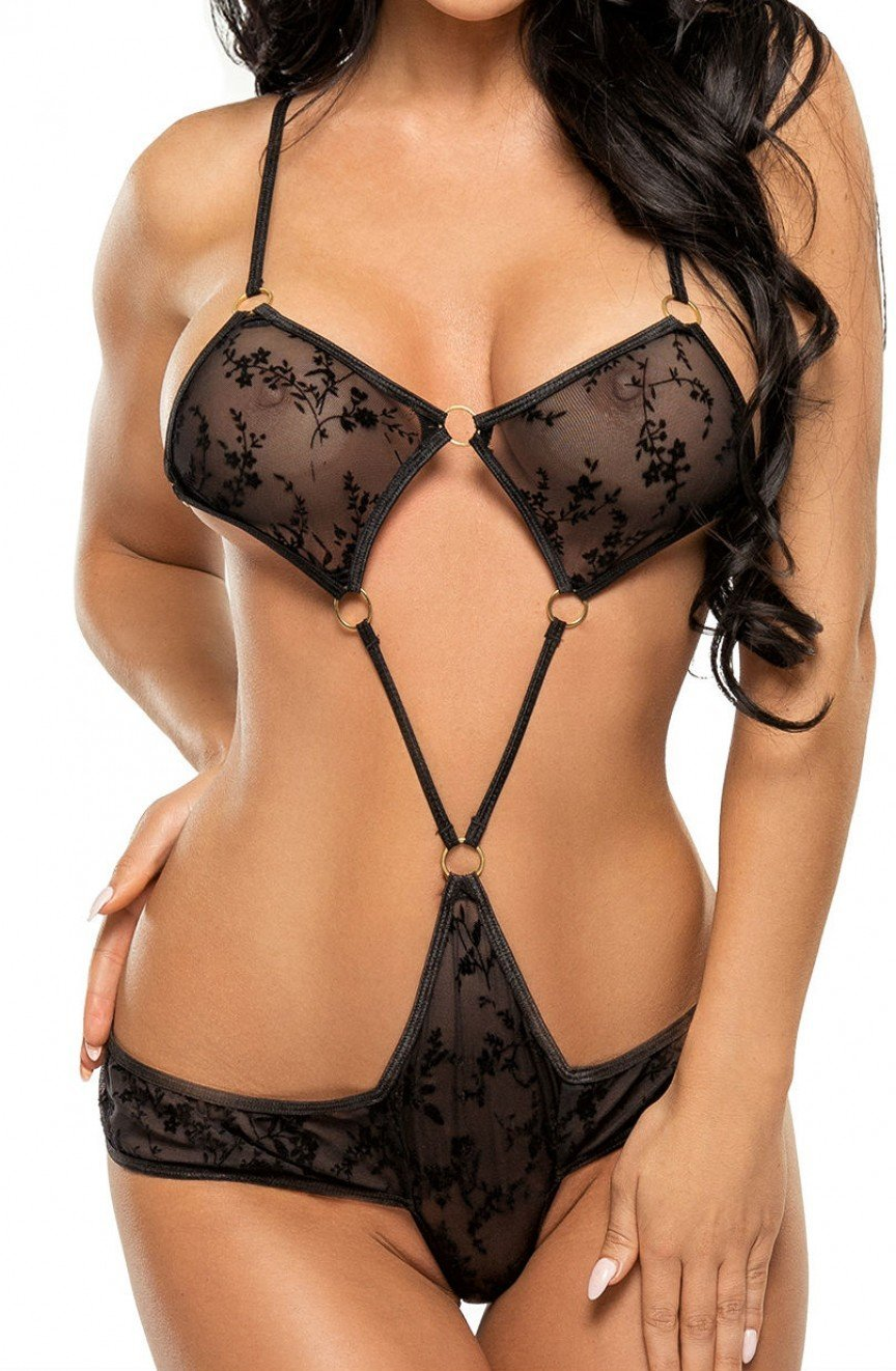 Beauty Night Dinah Teddy (Black) - Teddys - Beauty Night - Charm and Lace Boutique