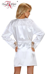 Beauty Night Fabienne Dressing Gown Set (White) - Dressing Gowns - Beauty Night - Charm and Lace Boutique