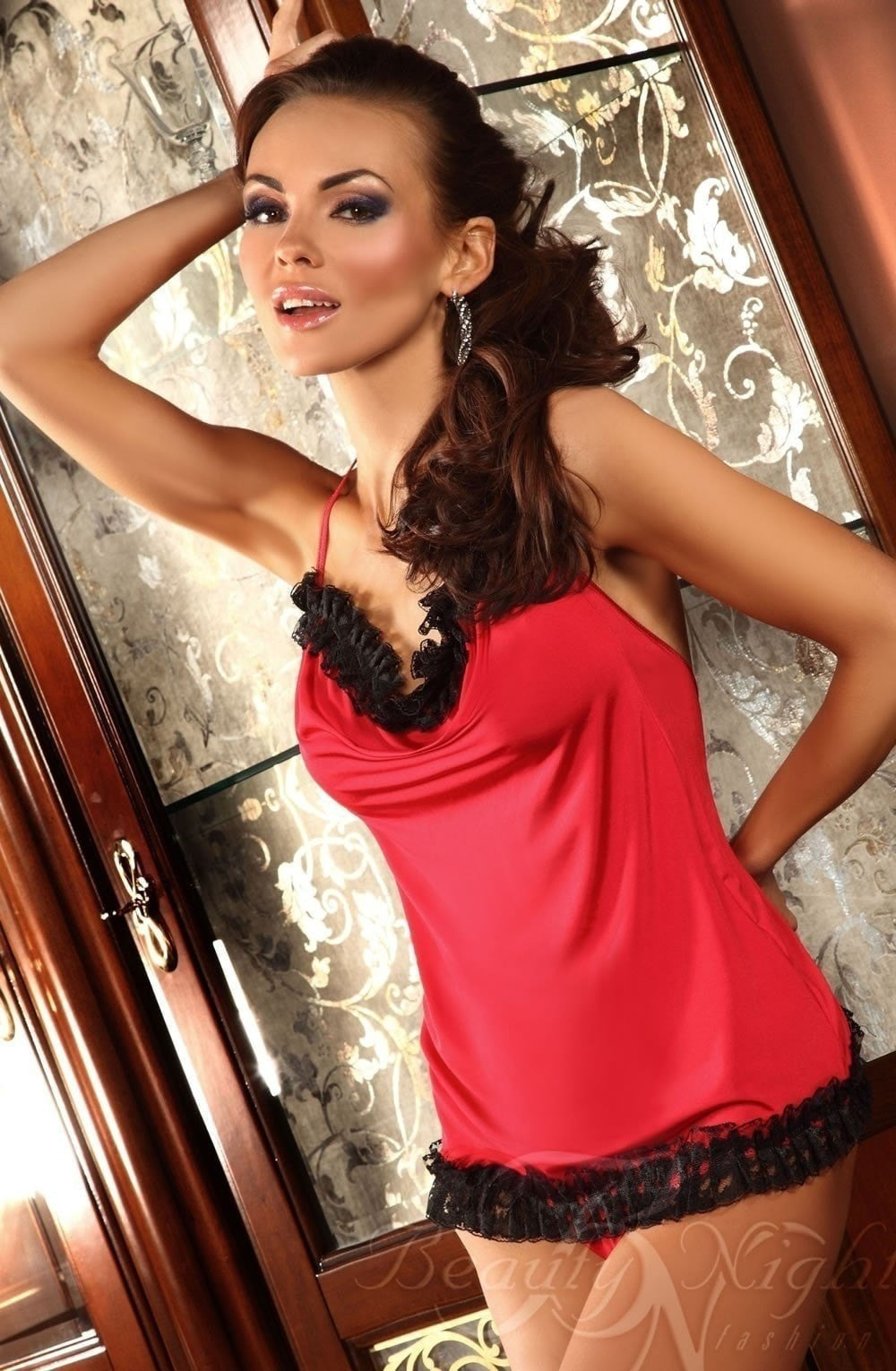 Beauty Night Giovanna Chemise (Red) - Chemises - Beauty Night - Charm and Lace Boutique
