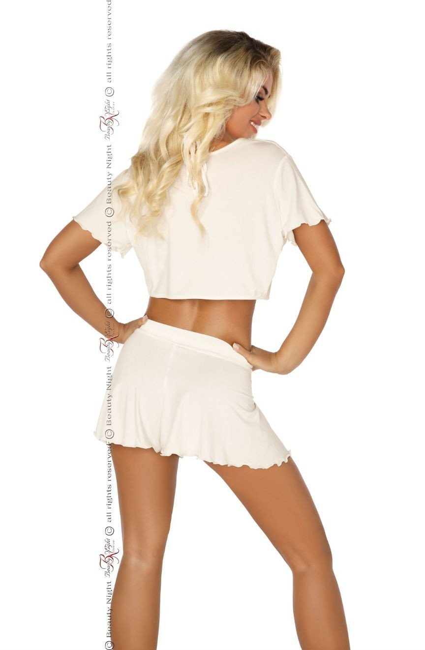 Beauty Night Gloria Set (Vanilla White) - Lingerie Sets - Beauty Night - Charm and Lace Boutique