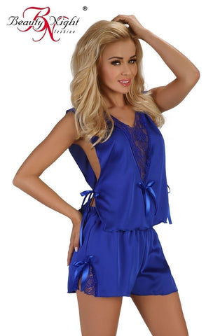 Beauty Night Mellissa Camisole Set (Blue) - Camisole Sets - Beauty Night - Charm and Lace Boutique