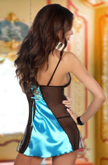 Beauty Night Michele Chemise Set (Blue) - Chemises - Beauty Night - Charm and Lace Boutique