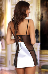 Beauty Night Michele Chemise Set (White) - Chemises - Beauty Night - Charm and Lace Boutique