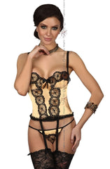 Beauty Night Michele Corset Set (Gold) - Corsets - Beauty Night - Charm and Lace Boutique