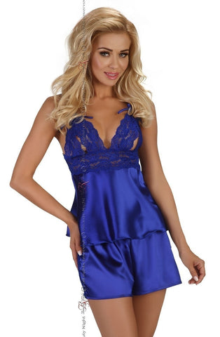 Beauty Night Nessie Camisole Set (Blue) - Camisole Sets - Beauty Night - Charm and Lace Boutique