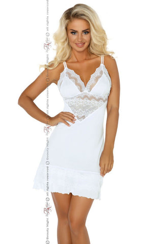 Beauty Night Petra Chemise Set (White) - Chemises - Beauty Night - Charm and Lace Boutique