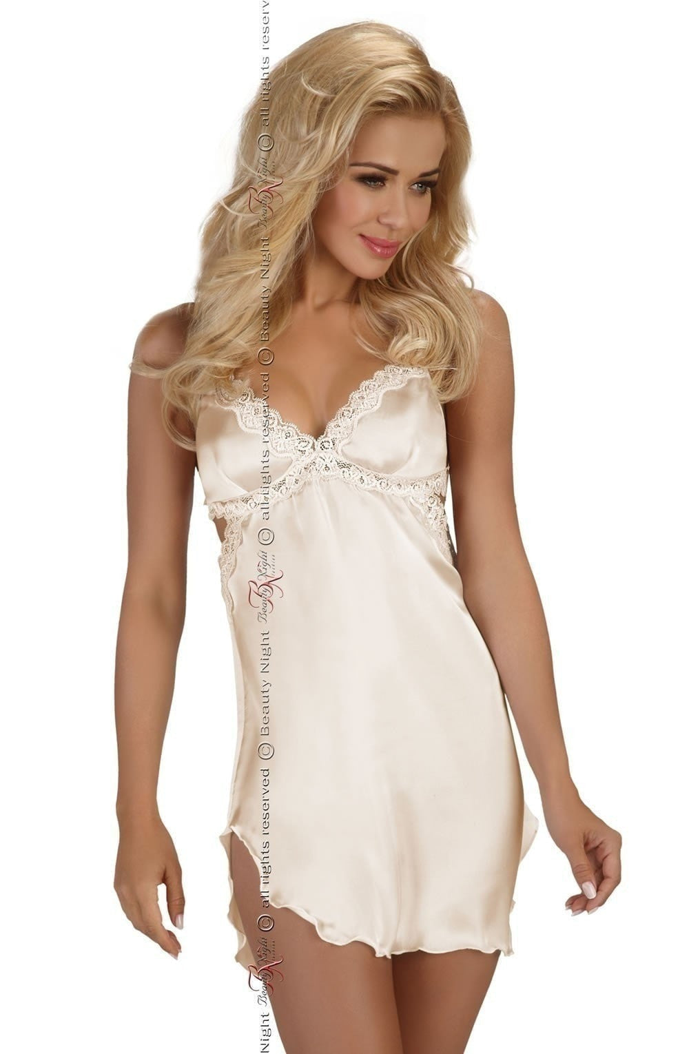 Beauty Night Shannon Chemise Set (Vanilla White) - Chemises - Beauty Night - Charm and Lace Boutique