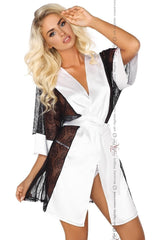 Beauty Night Stephanie Dressing Gown Set (White) - Dressing Gowns - Beauty Night - Charm and Lace Boutique