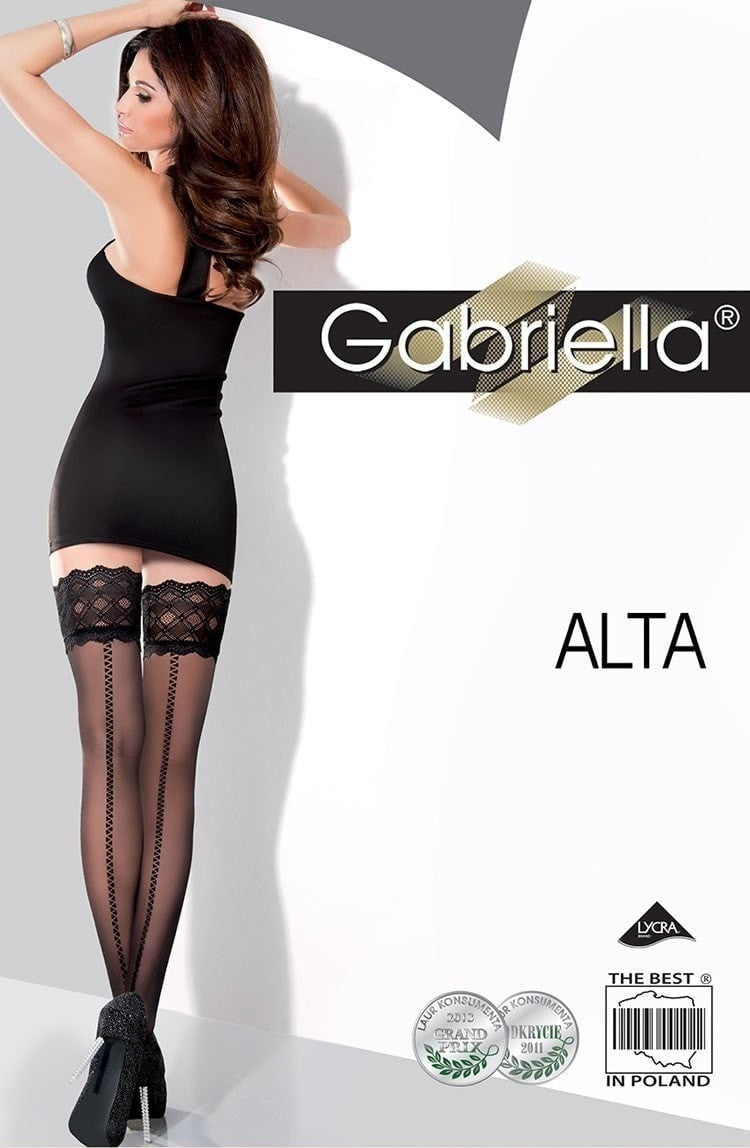 Gabriella Alta Hold Ups 218 - Hold Up Stockings - Gabriella - Charm and Lace Boutique