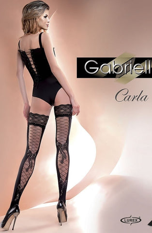 Gabriella Carla Hold Ups - Hold Up Stockings - Gabriella - Charm and Lace Boutique