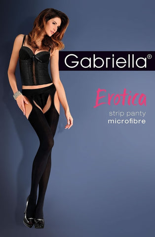 Gabriella Erotica Strip Panty Micro 638 - Suspender Tights - Gabriella - Charm and Lace Boutique