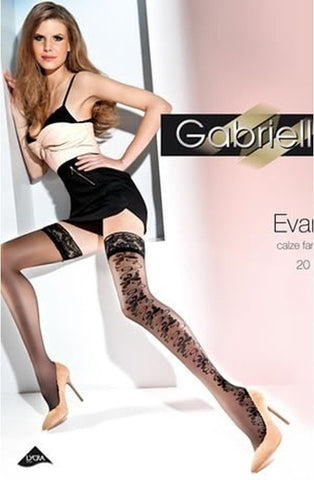 Gabriella Evana Hold Ups 214 - Hold Up Stockings - Gabriella - Charm and Lace Boutique