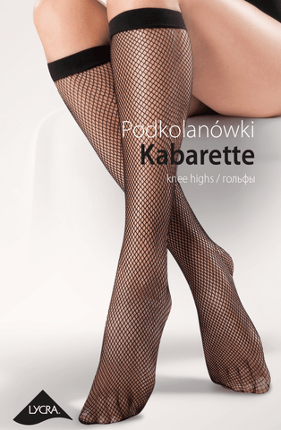 Gabriella Fishnet Knee Highs (Black) - Knee Highs - Gabriella - Charm and Lace Boutique
