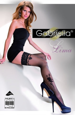 Gabriella Lima Hold Ups 248 - Hold Up Stockings - Gabriella - Charm and Lace Boutique