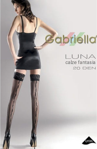 Gabriella Luna Hold Ups 209 - Hold Up Stockings - Gabriella - Charm and Lace Boutique