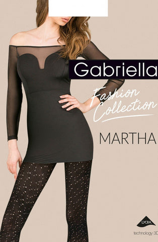 Gabriella Martha Tights (Nero) - Tights - Gabriella - Charm and Lace Boutique