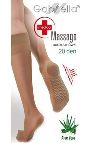 Gabriella Medica Massage 20 Denier Knee Highs - Knee Highs - Gabriella - Charm and Lace Boutique
