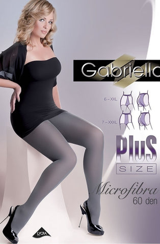 Gabriella Plus Size 60 Denier Tights - Plus Size Tights - Gabriella - Charm and Lace Boutique