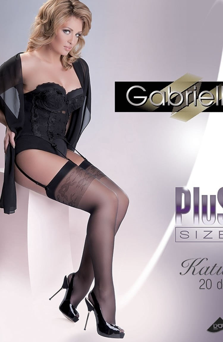 Gabriella Plus Size Katia Stockings - Plus Size Stockings - Gabriella - Charm and Lace Boutique