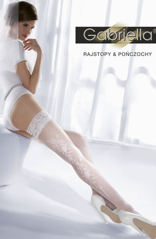 Gabriella Princessa Hold Ups 06-190 - Hold Up Stockings - Gabriella - Charm and Lace Boutique
