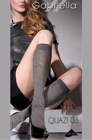 Gabriella Quazi Knee Highs 03 - Socks - Gabriella - Charm and Lace Boutique