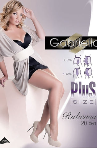 Gabriella Rubensa 20 Denier Tights - Plus Size Tights - Gabriella - Charm and Lace Boutique