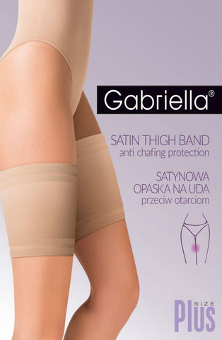 Gabriella Satin Thigh Band (Plus Size) - Plus Size Thigh Bands - Gabriella - Charm and Lace Boutique