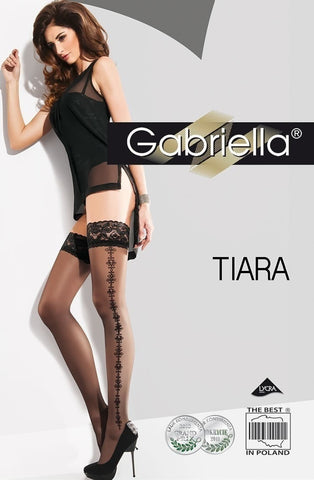 Gabriella Tiara Hold Ups 217 - Hold Up Stockings - Gabriella - Charm and Lace Boutique