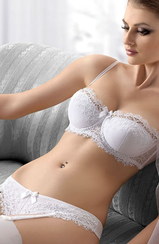 Gracya Bliss Balconette Bra (White) - Balconette Bras - Gracya - Charm and Lace Boutique