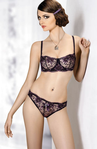 Gracya Purple Lace Balconette Bra - Balconette Bras - Gracya - Charm and Lace Boutique