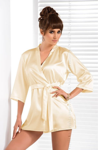 Irall Aria Dressing Gown (Cream) - Dressing Gowns - Irall - Charm and Lace Boutique