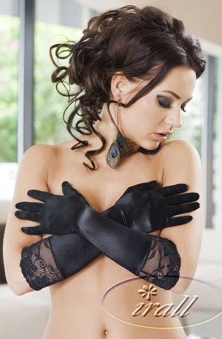 Irall Erotic Nora Gloves (Black) - Gloves - Irall Erotic - Charm and Lace Boutique