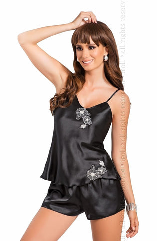 Irall Ida Camisole Set (Black) - Camisole Sets - Irall - Charm and Lace Boutique