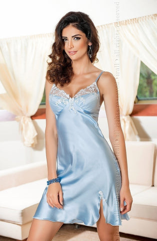 Irall Linda Nightdress (Blue) - Night Dresses - Irall - Charm and Lace Boutique