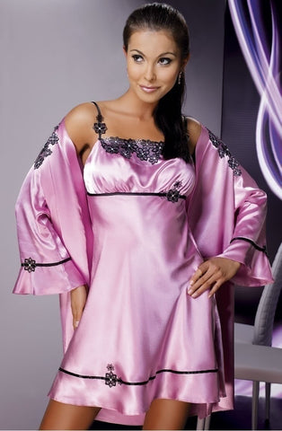 Irall Mirabelle Dressing Gown (Rose) - Dressing Gowns - Irall - Charm and Lace Boutique
