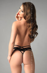 Me Seduce Amber Thong (Black) - Thongs - Me Seduce - Charm and Lace Boutique