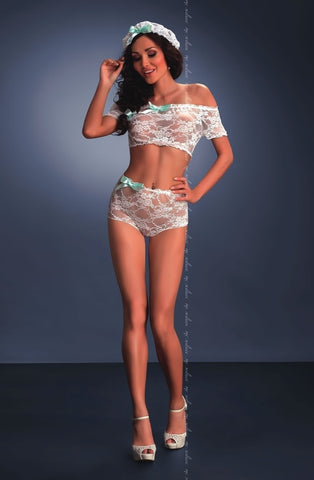Me Seduce Camila Set (White) - Lingerie Sets - Me Seduce - Charm and Lace Boutique
