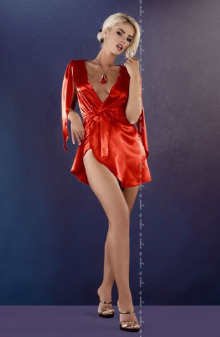 Me Seduce Florence Peignoir (Red) - Peignoirs - Me Seduce - Charm and Lace Boutique