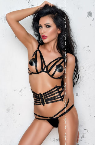 Me Seduce Loretta Set (Black) - Lingerie Sets - Me Seduce - Charm and Lace Boutique