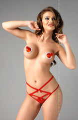 Me Seduce Martina Thong (Red) - Thongs - Me Seduce - Charm and Lace Boutique