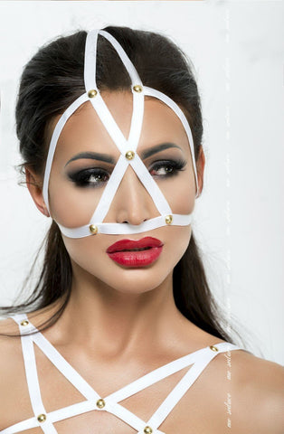 Me Seduce Mask MK010 (White) - Masks - Me Seduce - Charm and Lace Boutique