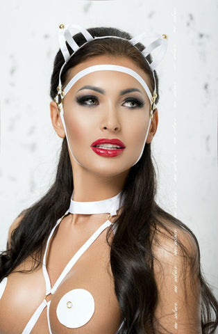 Me Seduce Mask MK07 (White) - Masks - Me Seduce - Charm and Lace Boutique
