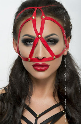 Me Seduce Mask MK08 (Red) - Masks - Me Seduce - Charm and Lace Boutique
